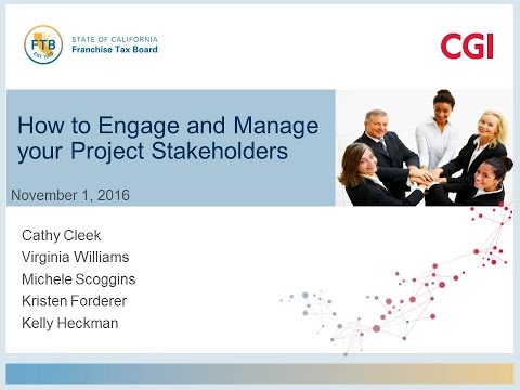 PD2016 S2(Pt 1): How to Engage and Manage your Project Stakeholders - CGI