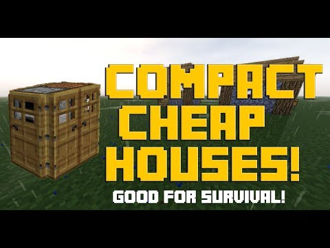 Top 4 Cheap Compact Houses For Survival Minecraft! [PC/Mac/Pe]
