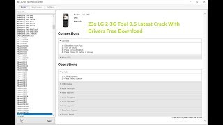 Z3X LG Tool v9 5 Without box Read/Write flash Unlock | Music