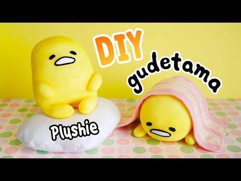 DIY Gudetama Plushie with 3 Simple Materials!! ぐでたま Lazy Egg Plushie Tutorial