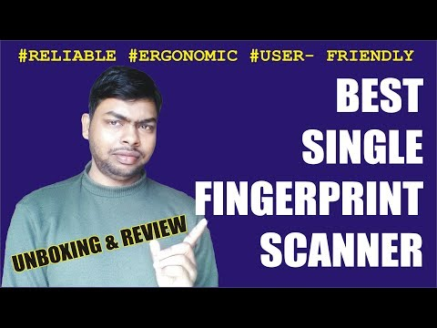 Best Government Approved Bio-Metric Single Fingerprint Scanner    Unboxing & Review