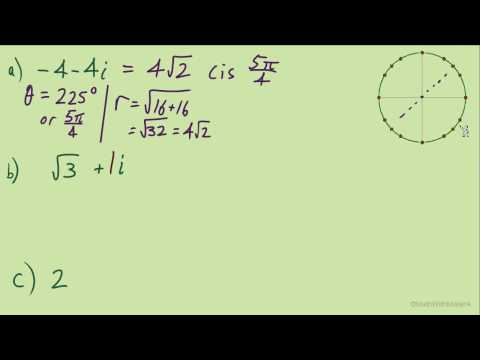 Complex Numbers in Trig Notation - Part 7 (Converting Complex to Trig Notation #4)