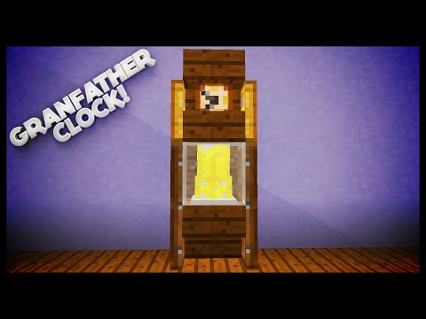 Minecraft - How To Make A Grandfather Clock