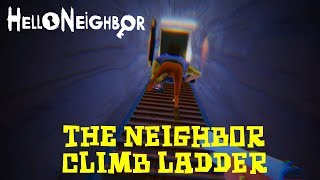 The Neighbor climb ladder & Flying (Hello Neighbor Beta)