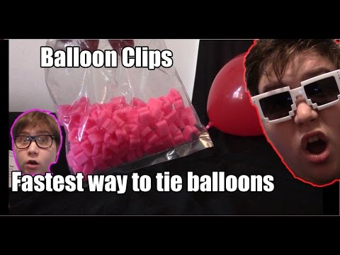 Fastest way to tie balloons EASY NO TYE BALLOON CLIP ON clipping balloons