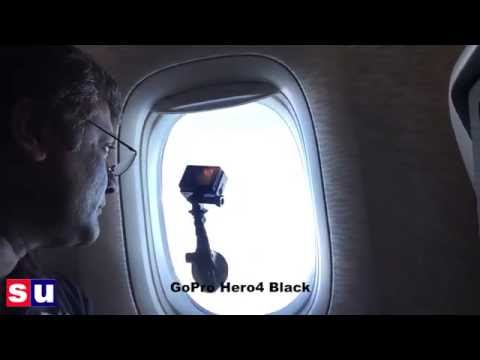 Time-lapsing GoPro test on a flight with a suction cup