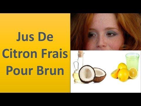 Le jus de citron Pour les taches sombres