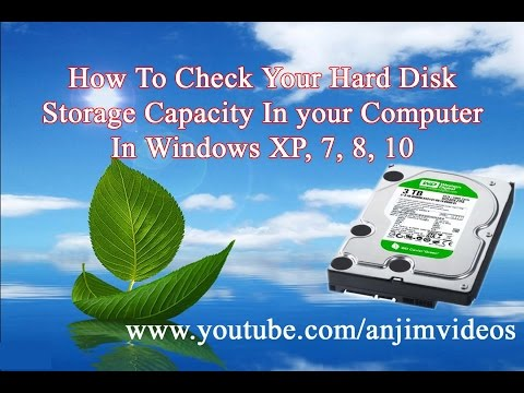 How To Check Your Hard Storage Capacity in your computer In Telugu