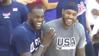 LeBron James & Carmelo Anthony Clown Russell Westbrook for Messing Up Simple Drill