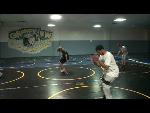 High School Wrestling  fast feet and center of balance