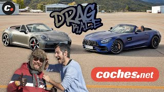 DRAG RACE Mercedes-AMG GT C Roadster vs Porsche 911 4S Cabrio | coches.net
