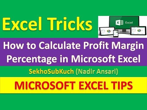 How to Calculate Profit Margin Percentage in Microsoft Excel : Excel Tips and Tricks [Urdu / Hindi]