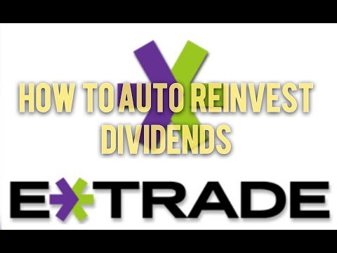 How to Reinvest Dividend w/ Etrade (2 min)