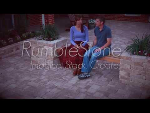 Pavestone RumbleStone™ Bench Planter