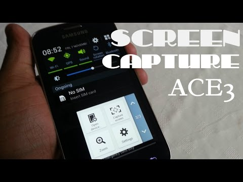 Samsung Galaxy Ace 3 (SCREEN SHOT 2 DIFFERENT WAYS NO ROOT!!)