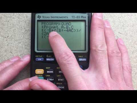 How to Program a Quadratic Solver for TI-83/84