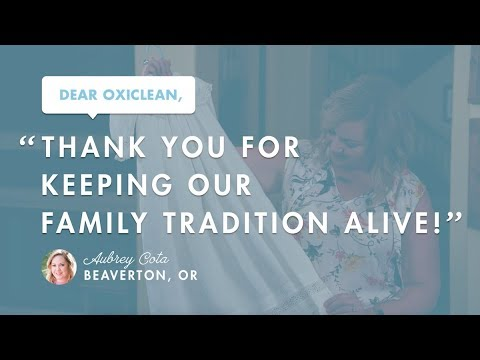Dear OxiClean: You Kept Our Family Tradition Alive