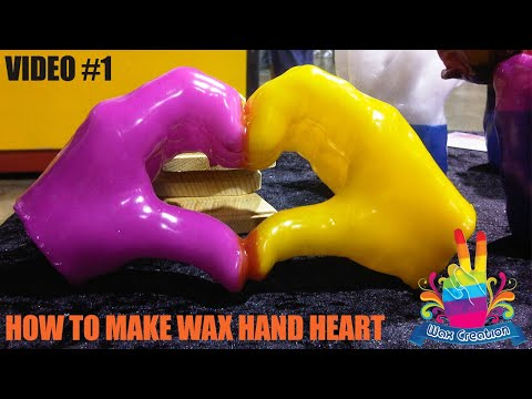 AMAZING !! How to make wax hands heart ,hand wax making art is unique art ,hands  made from wax