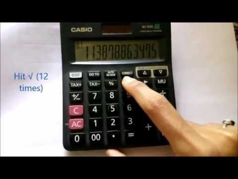 Evaluating the nth root of a number by a basic calculator.