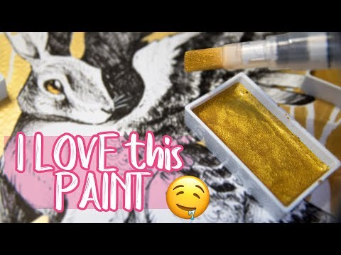AMAZING GOLD PAINT ✨ Drawing Mythical Creature - ScrawlrBox December 2017