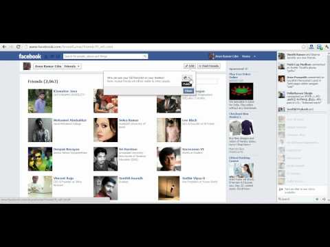 How hide your friend list in fb