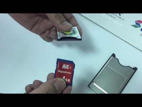How to use SD card to CF card into PCMCIA adapter (www.memorypack.com.tw)