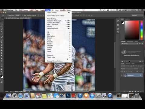 How to Make a Football/Soccer Edit With Photohsop and Topaz Labs @WORLDFOOTBALLARTWORK