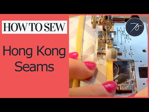 Creating a Hong Kong Seam Finish