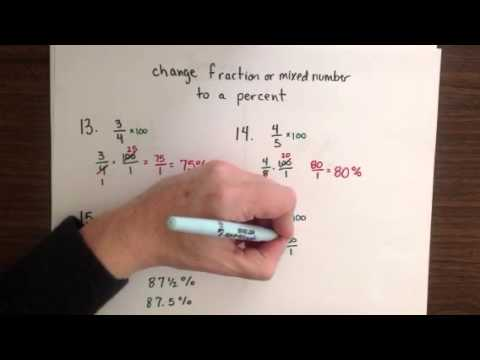 change fractions & mixed numbers to percents