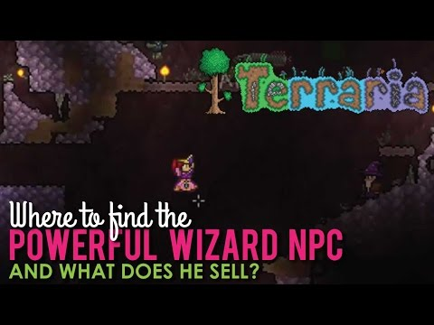 Where to find the Powerful Wizard NPC in Terraria Hard Mode