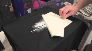 Self Weeding Transfer Paper On Dark Tshirts With White
