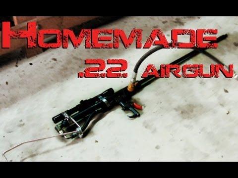 Homemade .22 Airgun (HD + high speed footage)
