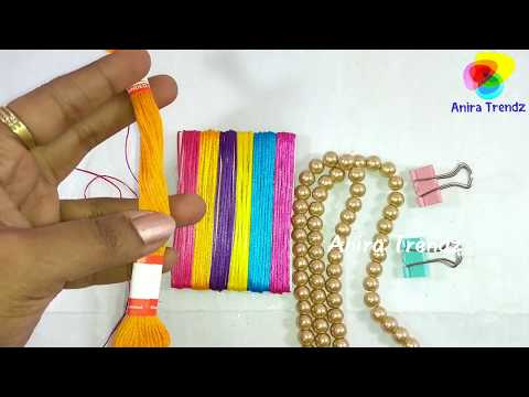 DIY Beaded Macrame Shamballa Bracelet Pearls Tutorial Square Knot Tamil