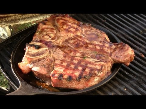 Perfektes Porterhouse Steak vom Grill, T-Bone-Steak grillen - Disturbed Cooking Ep. 39