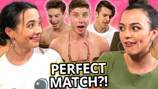 7 Guys Take My Twin Sister's Compatibility Test | Twin My Heart w/ The Merrell Twins Ep 2