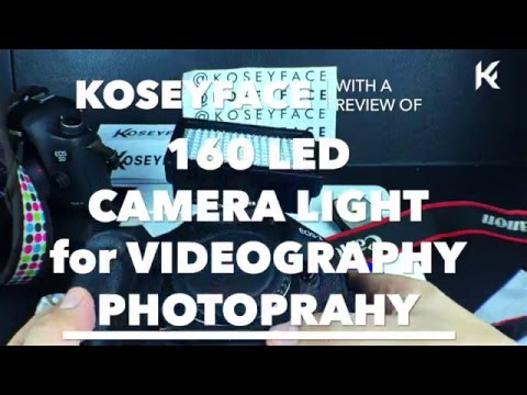 What's a 160 led Video camera light Like? Cheapest Pro Lighting for Video!