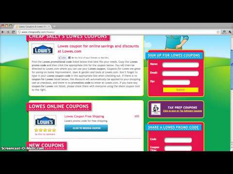Lowes Coupons and Promo Codes