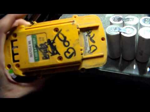 Dewalt 36V battery I salvaged, A123 cells inside!!