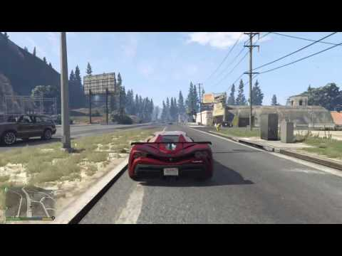 GTA 5 PS4 - Map Run: Driving Around the whole San Andreas state (GTA 5 Next Gen)