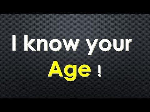 ✔ Maths Magic 2 - I Know your Age