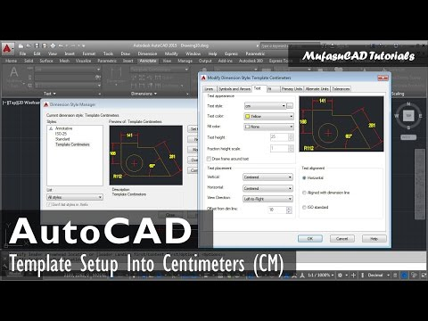 AutoCAD Template Setup In Centimeters