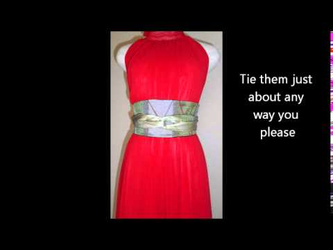 How to Wear a Belt: Silk Obi Belts