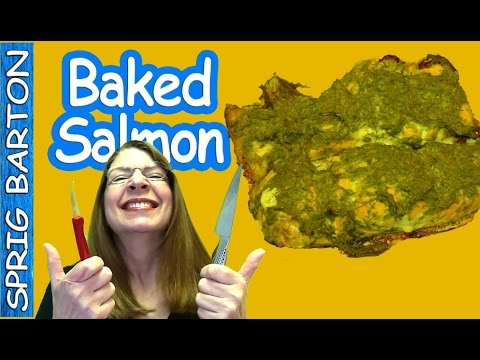 GREAT RECIPES ★ BAKED SALMON with Dill & Mustard