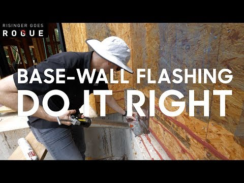 How to install a Base Wall Flashing on brick or stone ledge