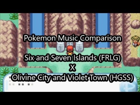 Pokemon Music Comparison 3: Six and Seven Islands and Olivine City and Violet Town