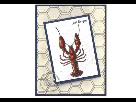 Watercoloring a Maine Lobster - Stampin' Up!