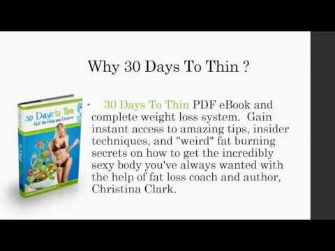 Quick weight loss diet + 30 Days To Thin Review Is it scam?