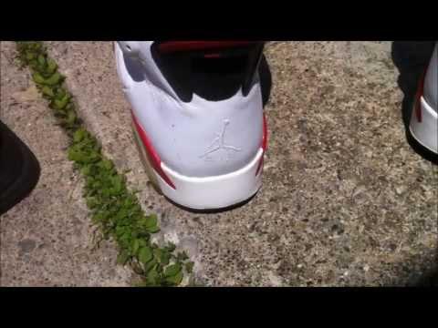 How To Clean A Dirty Stiched Jumpman - Jordan 6 Retro Bulls