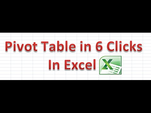How to Apply Pivot Table in Excel