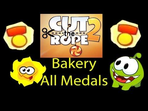 Cut the rope 2 Bakery (Bäckerei) all Medals walkthrough [HD]